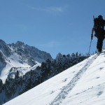 backcountry skiing sawtooth range idaho